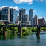 Downtown Austin from Lamer pedestrian Bridge